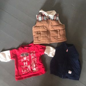 Other - 2 vests and 1 long sleeve shirt .  Size 6 months